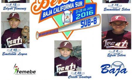 Liga de béisbol infantil de Tecate es seleccionada para los juegos nacionales