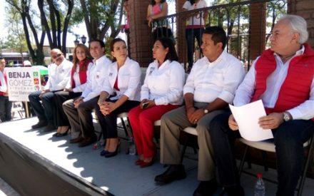 Recibe apoyo Benja Gómez del CEN del PRI