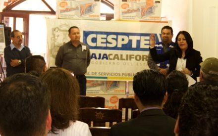 CESPTE entrega trampas de grasa a comerciantes de Zona Centro de Tecate