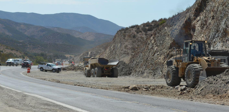 Se invierten 180 millones de pesos en carretera Tecate- El Sauzal