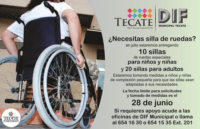 DIF y XXI Ayuntamiento de Tecate entregarán sillas de ruedas especiales