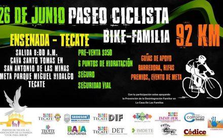 Bike-Familia un paseo ciclista que apoya la prevención de la desintegración familiar