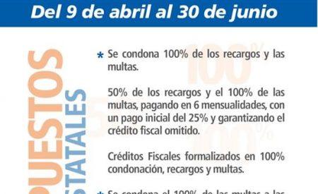 Condonación de multas, recargos y derechos se extiende hasta el 2 de julio