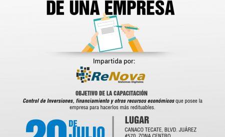 Próximo miércoles capacitación gratuita para empresarios en CANACO Tecate