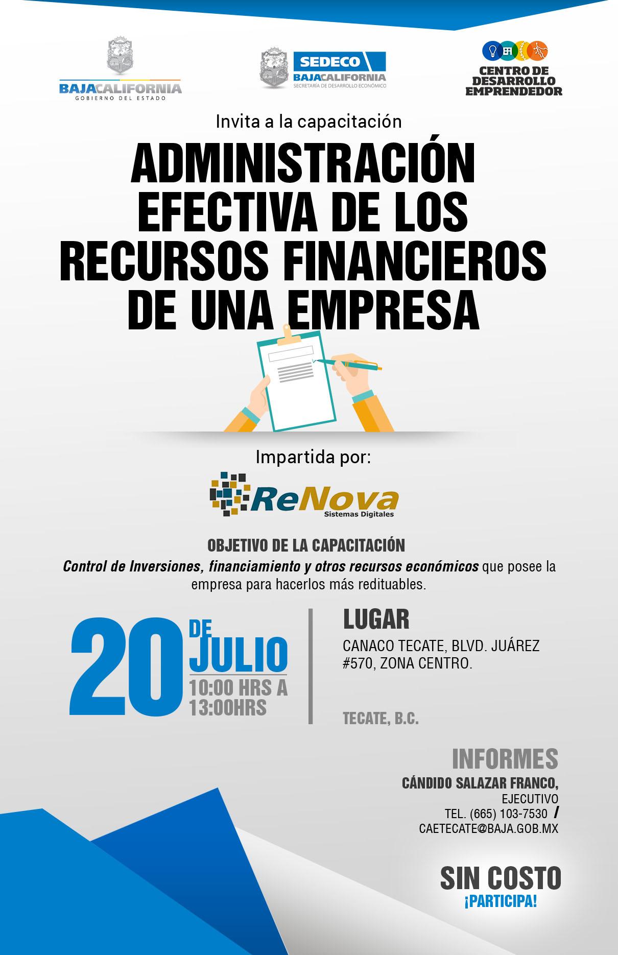Curso gratuito para empresarios y emprendedores en CANACO Tecate
