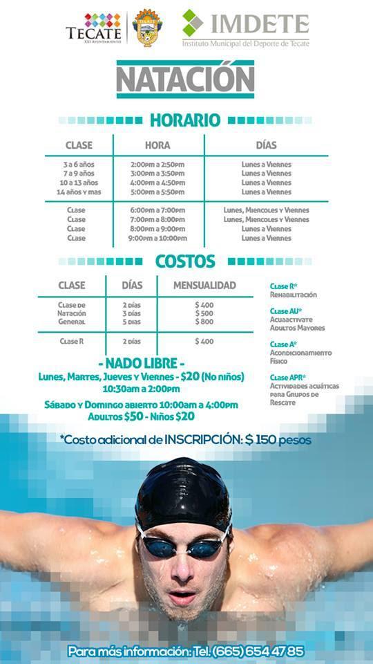 clases de natación en la unidad deportiva eufrasio santana