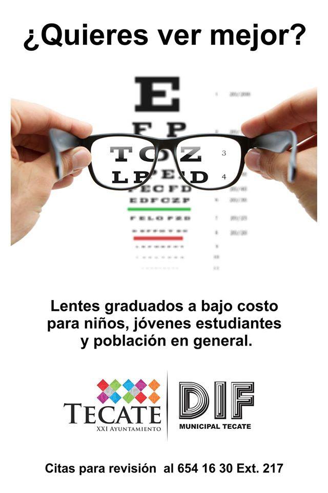 DIF Municipal de Tecate apoya con examenes de a vista y lentes