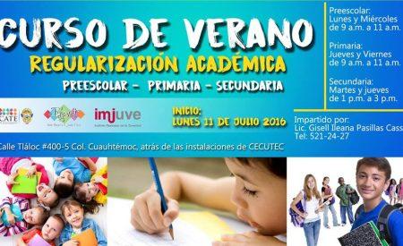 IMJUVET invita a las clases de regularización en Verano