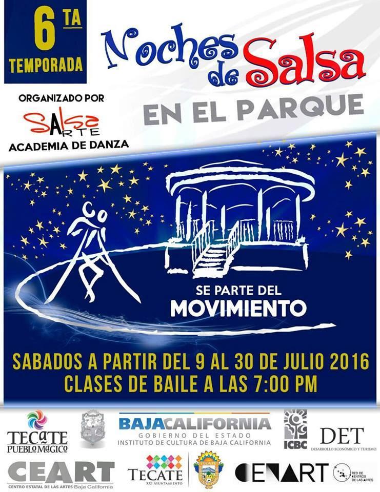 Noches de salsa en el parque Miguel Hidalgo Tecate
