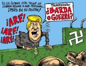 Caricaturista tijuanense es censurado por criticar a Donald Trump