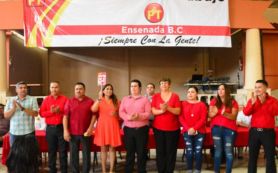 Asume Cristian Hiram la nueva dirigencia municipal del PT en Ensenada