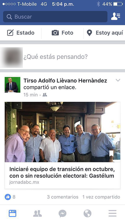 Tirso Liévano comparte enlace