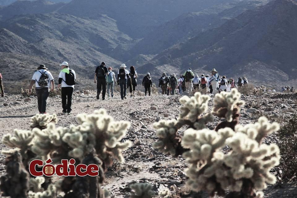 500 personas participaron en el Ascenso Nocturno de la Rumorosa
