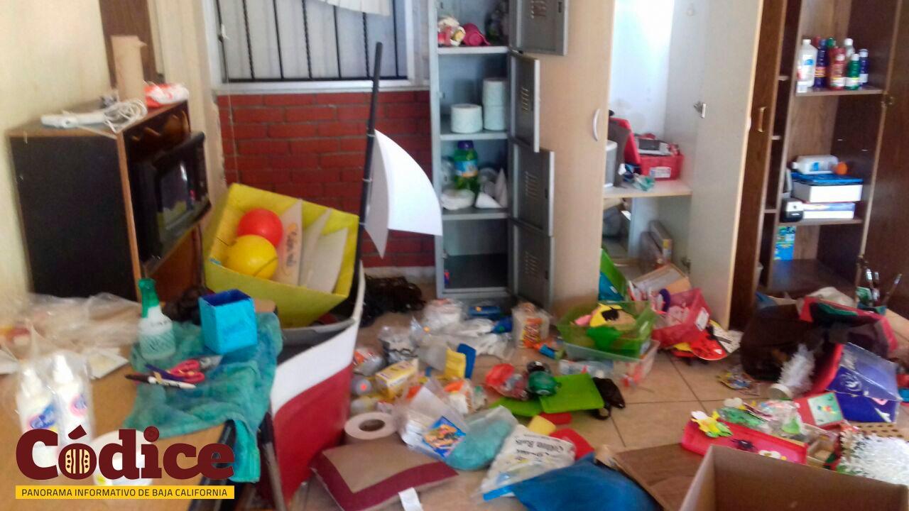 Saquean escuela para niños con capacidades diferentes en Tecate