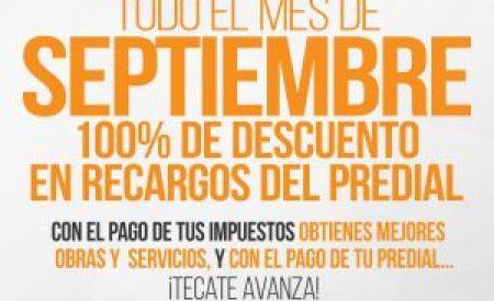 Aprovecha en septiembre la condonación de recargos en impuestos
