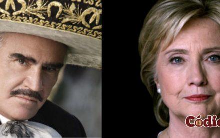Apoya Vicente Fernández  a Hillary Clinton