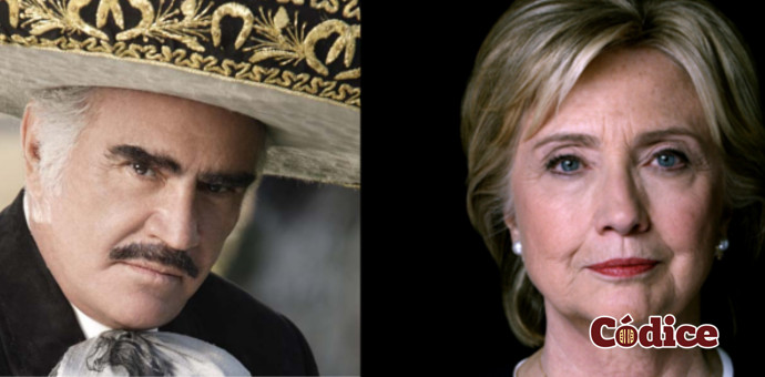 Vicente Fernandez apoya a Hillary Clinton