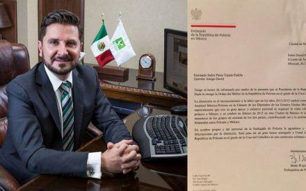 Recibirá David Pérez Tejada Condecoración del Gobierno de Polonia
