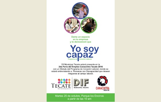 Participará DIF Municipal en 2da Feria de Empleo Canacintra