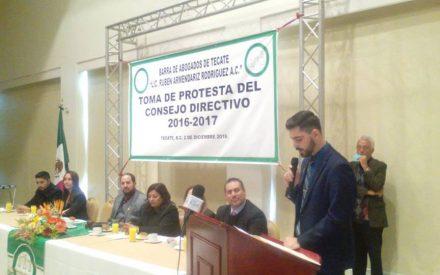 Renueva Consejo Directivo Barra de Abogados de Tecate
