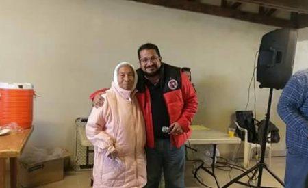 Presente Benjamín Gómez en la zona rural de Tecate