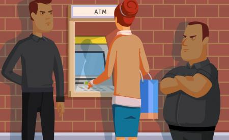 Evita ser víctima de robo en cajeros