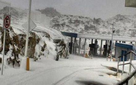 Por nevadas, cerradas las carreteras libre y de cuota hacia Mexicali