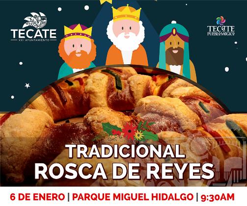 Invita Gobierno Municipal a la tradicional rosca del día de reyes