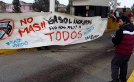 Hartazgo en Tecate por gasolinazo