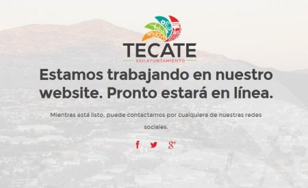 Obsoleta página del Ayuntamiento de Tecate