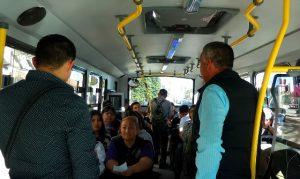 Inspecciona SITMUN servicio correcto del transporte local