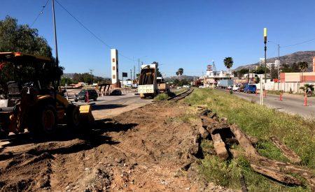 Rehabilitan vía férrea en Tecate
