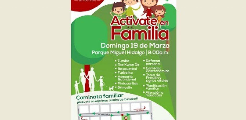 "Invita Gobierno Municipal al evento ""Actívate en familia"""