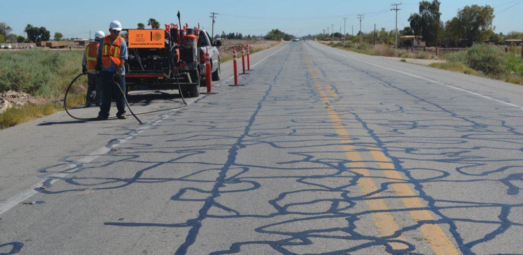 Inician trabajos de conservación carretera del Valle de Mexicali