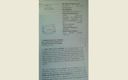 Solicita Obed Silva que TJEBC haga cumplir su sentencia al CEN PRI