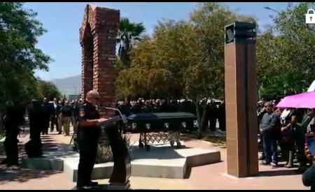 Rinden homenaje a Oficial caído en cumplimiento de su deber
