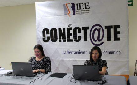 """""""Financiamiento público a los partidos políticos de BC"""" en el chat interactivo """"Conéct@te"""""""
