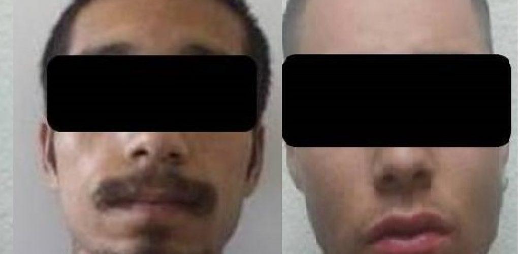 Detienen a dos sujetos por presunto robo