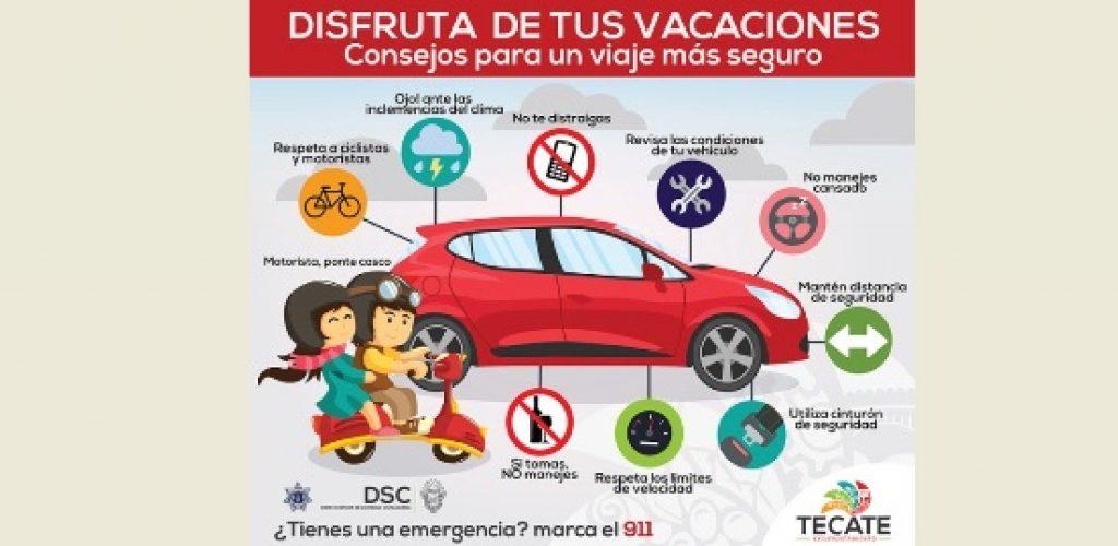 Emite Seguridad Ciudadana recomendaciones para el periodo vacacional de Semana Santa