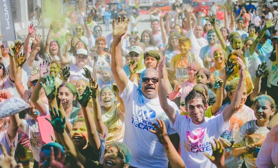 Con éxito se realizó la tercera edición The Color Run Tach Tecate 2017