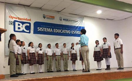 Celebran en Tecate concurso de Interpretación de Himno Nacional