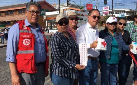 Se une Ayuntamiento de Tecate a la anual colecta de Cruz Roja