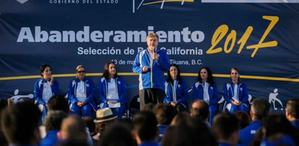 Abandera Gobernador Francisco Vega a selección Bajacaliforniana rumbo a la Olimpiada Nacional y Nacional Juvenil 2017