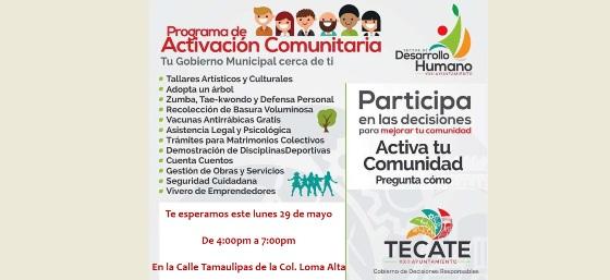 Ayuntamiento llevará el Programa de Activación Comunitaria a la colonia Loma Alta