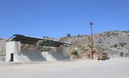 Rehabilitan campo deportivo de El Mayab