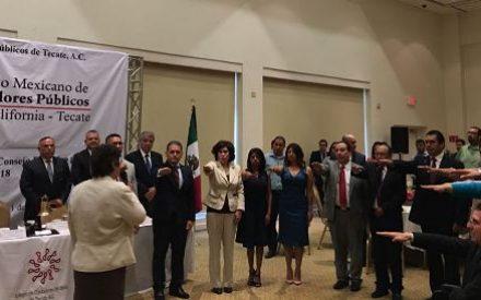 Tomó protesta el nuevo consejo directivo del Colegio de ContadoresPúblicos Tecate A.C.