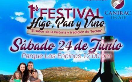 Invita CANIRAC a 1er Festival del Higo, Pan y Vino