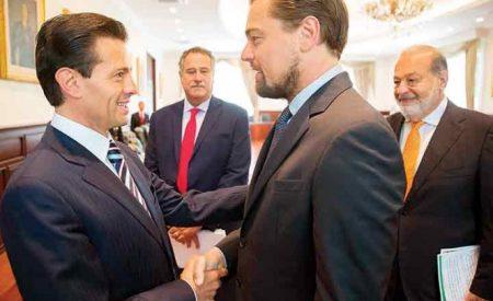 DiCaprio se reúne con Peña Nieto en Los Pinos