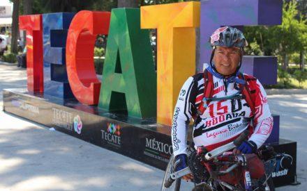 Atleta paralímpico que recorre México, llegó aTecate
