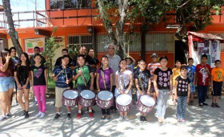 Acción Cívica del Ayuntamiento inició cursos de Banda de Guerra